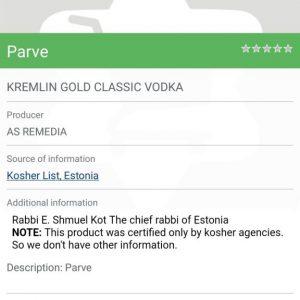 Kosher vodka – Is Kremlin Kosher?